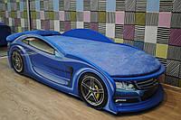 """Детская кровать машина с матрасом """"Mercedes"""" синяя"""