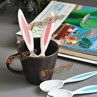 Кроличьи уши младенца ложка и вилка набор детская посуда детские столовые приборы