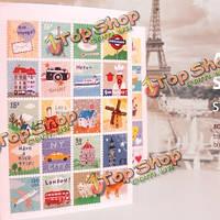 1 комплект 80шт поделок ручной росписью рука рисунок Франсуаза печать тема наклейка дневник этикету декора
