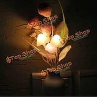 Тюльпан LED затемнение ночь свет 7 цветов изменяя искусственный тюльпан управление светом стены дома декор