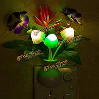Фиолетовый лотос LED свет ночи затемнение 7 цветов изменяя управление светом стены дома украшения подарок