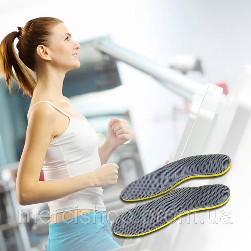 Удобные ортопедические стельки в обувь с дышащей конструкцией в спортивную и другую обувь (35-40р.)