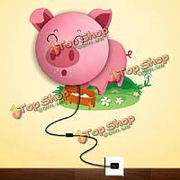 Поделки розовая свинья детская комната настенный светильник свет