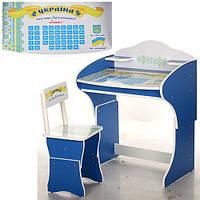 Детская парта Растишка Vivast МV-901-17 Азбука (синий)