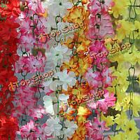 2м искусственного шелка цветы азалии саженцы гирлянды свадьба домашнего декора