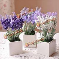 10 Глава букет красивых искусственный лаванда цветы из шелка