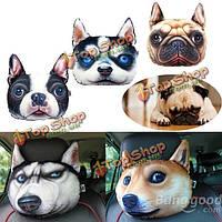 28X20см плюшевые Creative 3D собаки лицом подушками диван автомобиля подушки сиденья с покромки