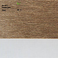 Рулонные шторы День-ночь ткань Бонжур Орех