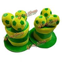 2014 Бразилии мира по футболу шляпа шляпа шляпа шляпы футбольный фанат спорта Футбол