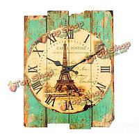 Деревянные старинные настенные часы элегантный дом кофешопом отделки стен