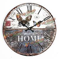 Старинные настенные часы бабочки дома офиса кафе бара-декоративное искусство