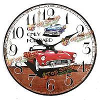 Старинные настенные часы автомобиля деревенский дом офис кафе бар-декоративное искусство