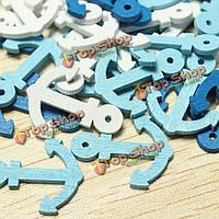 50шт Mini деревянные морской якорь морские суда скрапбукинга домашнего декора