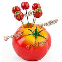 Томат плоды вилкой набор столовый вилки фруктовых закусок