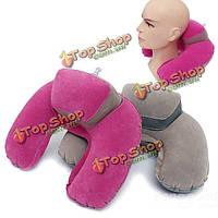 U-образный надувная подушка для шеи флокирование дома бюро путешествий подушка