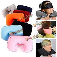 Надувная Путешествия Отдых U-образный подушку удобную защиты шеи воздушной подушке