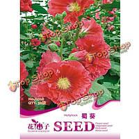 Штокроза розовая мальва Семена цветы растения Seeds Сад 30шт