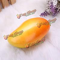 5шт пена манго поддельные плодоовощ прессформы домашнего украшения модель игрушечного реквизита