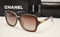 Женские солнцезащитные очки Chanel 1758 коричневый цвет