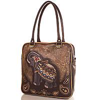 Женская дизайнерская кожаная сумка с ручной росписью GALA GURIANOFF (ГАЛА ГУРЬЯНОВ) GG1259