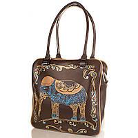 Женская дизайнерская кожаная сумка с ручной росписью GALA GURIANOFF (ГАЛА ГУРЬЯНОВ) GG1258