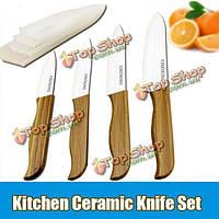 Бамбуковой ручкой кухни белые лезвия керамических ножей фруктовый нож