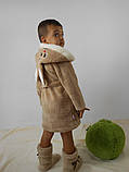 Детский бежевый махровый халат Зайка, фото 2