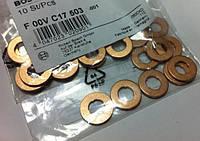 Кольцо уплотнительное (прокладка медная) топливной форсунки к головке блока цилиндров (ГБЦ) нижнее GM 0821675 0821437 0821038 0821043 9117693 9128304