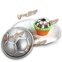 3D футбол-форменные алюминиевые день рождения Cake выпечки прессформы