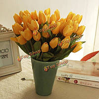6 цветов искусственные тюльпан свежие моделирования тюльпан цветы одной головы пу домашний декор