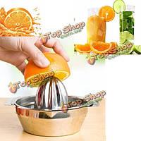 Нержавеющая сталь фрукты лимон кухня цитрусовых соковыжималка ручная пресс-соковыжималка инструмент