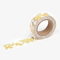 Бумажный скотч dailylike Little Bamboo 15 мм x 10 м Gold Foil (8809459926297)