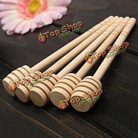 Длинная ручка деревянной помешивая мед Медведицы стик для смешивания ложка кухонная мешалка