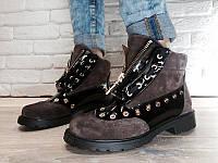 Ботинки Balmain хит сезона 2016 натуральная замша AL0026