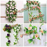 7 цветов моделирования цветок ротанга Искусственная роза Вистерия дома свадьба партия декор