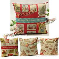 Рождество хлопковое постельное белье наволочка старинная марка диванной подушке обложка