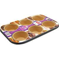 Форма для выпечки кексов lamart lt3016 cиликоновая