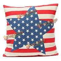 Белье звезды полосы флага бросить наволочку подушки диван обложка