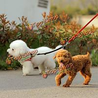 Нейлон два способа двойной собак пару прогулки Pet поводок собаки кошки