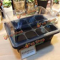 12 отверстия пластиковые посева поле растениеводства коробка