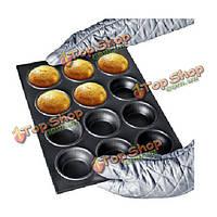12 отверстий металл кекс плесень кухонную посуду сковороде испечь инструмент
