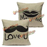 Прекрасный любовник бросить наволочку подушки крышки домашнего декора свадебного подарка