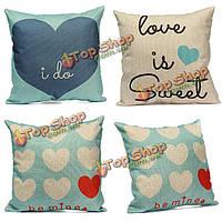 Любовь сердце бросить наволочку подушки крышки домашнего декора свадебного подарка