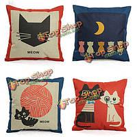 Белье милый мультфильм кошка наволочка диван декоративные подушки крышки