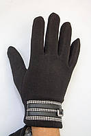 Мужские перчатки с металлическим украшением