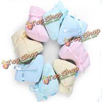 Чистый цвет ребенок младенец новорожденный малыш свободный размер мягкие чистые хлопчатобумажные носки обувь