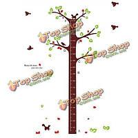 Съемный стикер стены дерево сон ребенка высота наклейки декор