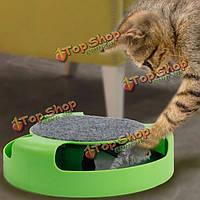 Домашняя кошка котенок игрушки смешно круг обучение проигрыватель игрушка с мышью