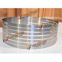 304 нержавеющая сталь круг мусс кольцо 6-8-дюймов многослойный Cake плесень