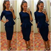 Платье баска миди